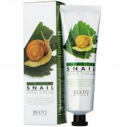 "Крем для рук Jigott ""Real Moisture Snail Hand Cream"", 100ml, , 220 руб., 1104001, Korean, Крема для тела"