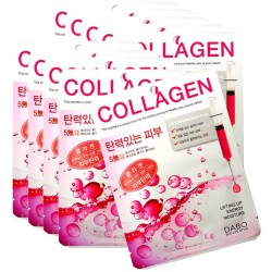 """Тканевая маска DABO """"Collagen First Solution Mask Pack"""", , 130 руб., 1102016, Korean, Маски для лица"""