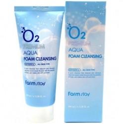"""Пенка для умывания FarmStay """"O2 Premium Aqua Foam Cleansing"""", , 325 руб., 1101035, Korean, Крема и сыворотки"""