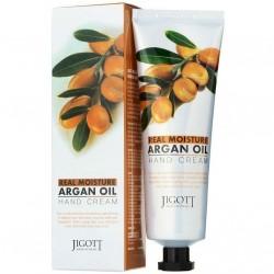 "Крем для рук Jigott ""Real Moisture Argan Oil Hand Cream"", 100ml, , 220 руб., 1104003, Korean, Крема для тела"