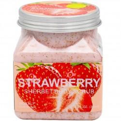 """Скраб для тела """"Wokali Strawberry Sherbet Body Scrub"""", 350 ml, , 400 руб., 1105002, Korean, Скрабы для тела"""