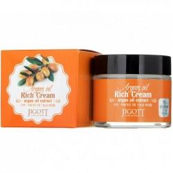"""Крем для лица питательный Jigott """"Rich Cream Argan Oil"""", 70ml, , 515 руб., 1101056, Korean, Крема и сыворотки"""