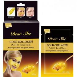 "Маска для лица ""Dear She Gold Collagen Peel Off Facial Mask"", 20g, , 130 руб., 1102047, Korean, Маски для лица"