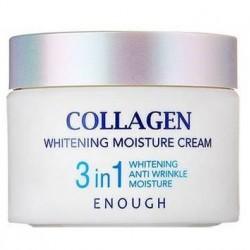 "Крем для лица Collagen ""Whitening Moisture Cream 3 in 1 Enough"", , 470 руб., 1101041, Korean, Крема и сыворотки"